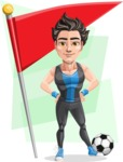 Handsome Fitness Man Cartoon Vector Character AKA Mitch - Shape 7