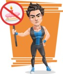 Handsome Fitness Man Cartoon Vector Character AKA Mitch - Shape 9