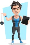 Handsome Fitness Man Cartoon Vector Character AKA Mitch - Shape 10