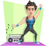 Handsome Fitness Man Cartoon Vector Character AKA Mitch - Shape 11