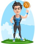 Handsome Fitness Man Cartoon Vector Character AKA Mitch - Shape 12
