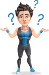 Handsome Fitness Man Cartoon Vector Character AKA Mitch - Lost 1