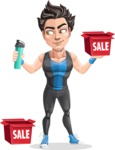 Handsome Fitness Man Cartoon Vector Character AKA Mitch - Sale