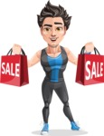 Handsome Fitness Man Cartoon Vector Character AKA Mitch - Sale 2
