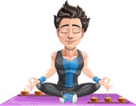 Handsome Fitness Man Cartoon Vector Character AKA Mitch - Yoga 2