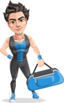Handsome Fitness Man Cartoon Vector Character AKA Mitch - Fitness bag 1