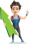 Handsome Fitness Man Cartoon Vector Character AKA Mitch - Pointer 1