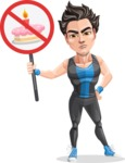 Handsome Fitness Man Cartoon Vector Character AKA Mitch - No sugar allowed