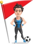 Handsome Fitness Man Cartoon Vector Character AKA Mitch - Checkpoint
