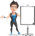 Handsome Fitness Man Cartoon Vector Character AKA Mitch - Presentation 1