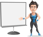 Handsome Fitness Man Cartoon Vector Character AKA Mitch - Presentation 2