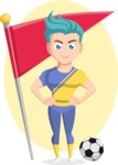 Flat Vector Sportsman Cartoon Vector Character AKA Don Bell - Shape 6