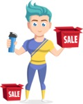 Flat Vector Sportsman Cartoon Vector Character AKA Don Bell - Sale