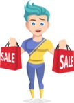 Flat Vector Sportsman Cartoon Vector Character AKA Don Bell - Sale 2