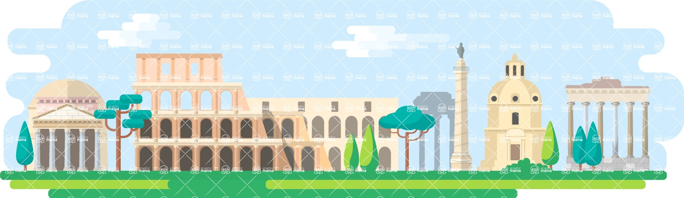 Rome Wide Landscape