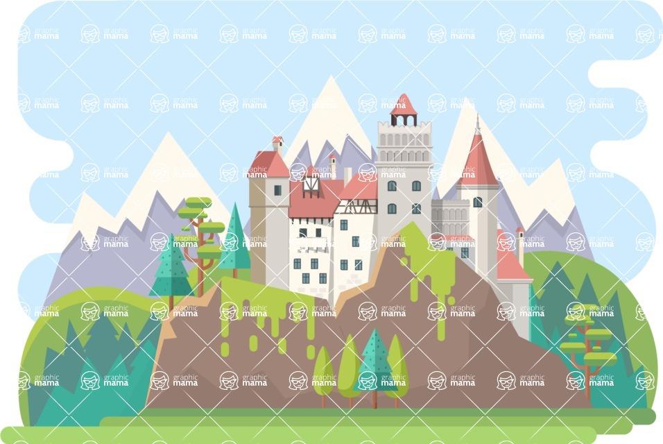 Dracula Castle Narrow Landscape