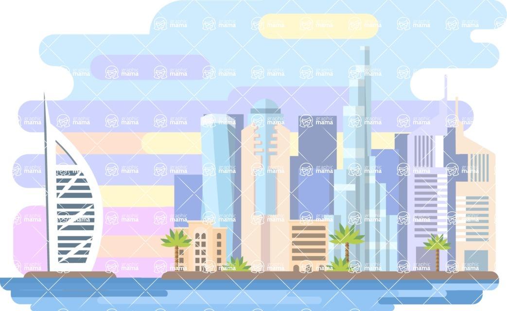 Dubai Narrow Landscape
