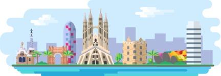 Barcelona Wide Landscape