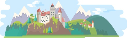 Dracula Castle Wide Landscape