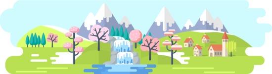 Spring Landscape Wide