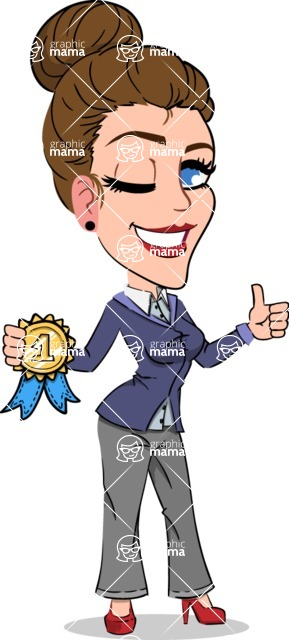 Simple Style cartoon of a Corporate Girl - Winning prize