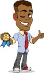 Simple Style Cartoon of an African-American Guy - Winning prize