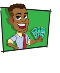 Simple Style Cartoon of an African-American Guy - Shape 3