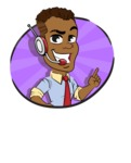 Simple Style Cartoon of an African-American Guy - Shape 4
