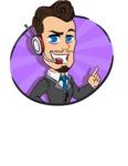 Simple Style Cartoon of a Businessman with Goatee - Shape 4