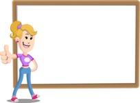 Flat Blonde Girl Cartoon Vector Character AKA Emma - Presentation 5