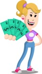 Flat Blonde Girl Cartoon Vector Character AKA Emma - Show me  the Money