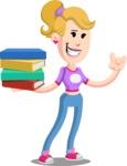 Flat Blonde Girl Cartoon Vector Character AKA Emma - Book 2