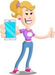 Flat Blonde Girl Cartoon Vector Character AKA Emma - iPhone