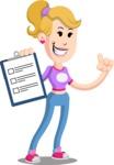 Flat Blonde Girl Cartoon Vector Character AKA Emma - Notepad 1