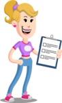 Flat Blonde Girl Cartoon Vector Character AKA Emma - Notepad 4