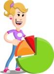 Flat Blonde Girl Cartoon Vector Character AKA Emma - Chart
