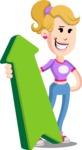 Flat Blonde Girl Cartoon Vector Character AKA Emma - Pointer 1