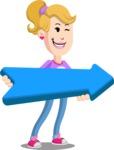 Flat Blonde Girl Cartoon Vector Character AKA Emma - Pointer 2