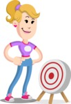 Flat Blonde Girl Cartoon Vector Character AKA Emma - Target