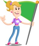 Flat Blonde Girl Cartoon Vector Character AKA Emma - Checkpoint