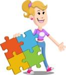 Flat Blonde Girl Cartoon Vector Character AKA Emma - Puzzle