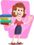 Flat Female Cartoon Vector Character AKA Masha Manners - Shape 6