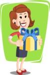 Flat Female Cartoon Vector Character AKA Masha Manners - Shape 8