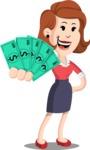 Flat Female Cartoon Vector Character AKA Masha Manners - Show me  the Money