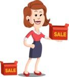 Flat Female Cartoon Vector Character AKA Masha Manners - Sale
