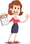 Flat Female Cartoon Vector Character AKA Masha Manners - Calculator
