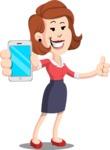 Flat Female Cartoon Vector Character AKA Masha Manners - iPhone
