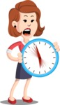 Flat Female Cartoon Vector Character AKA Masha Manners - Time is Yours