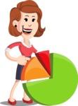 Flat Female Cartoon Vector Character AKA Masha Manners - Chart