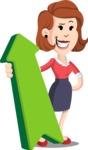 Flat Female Cartoon Vector Character AKA Masha Manners - Pointer 1